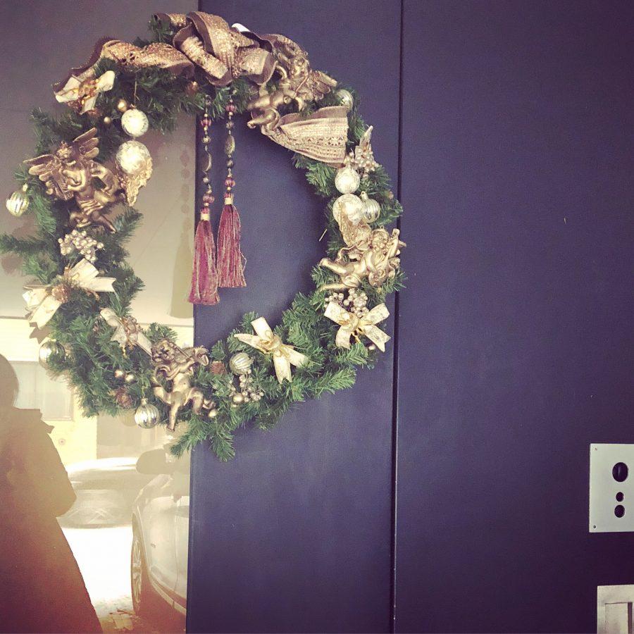 天使のクリスマスリース